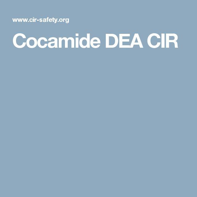 Cocamide DEA CIR