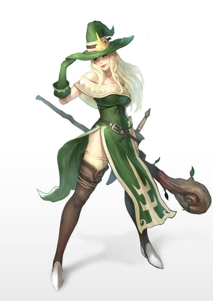"art-of-cg-girls: "" female wizard by Yoon LEE """