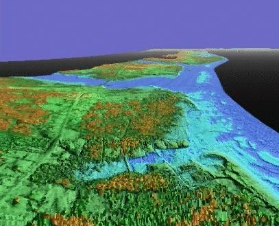 Cap-Pelé New Brunswick - 3D LIDAR oblique image