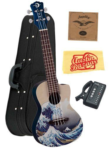 Luna Artistic Series Great Wave Concert Ukulele Bundle with Aquila Strings, Hardshell Case, Tuner, and Polishing Cloth by Luna. $139.00. Bundle includes Luna Artistic Series Great Wave Concert Ukulele, Aquila Strings, Hardshell Case, Tuner, and Polishing Cloth.The Great Wave off Kanagawa (1830-1833), also known as The Great Wave is a woodblock print by the Japanese artist Hokusai. Copies of the print are in many collections, including the Metropolitan Museum of Art...