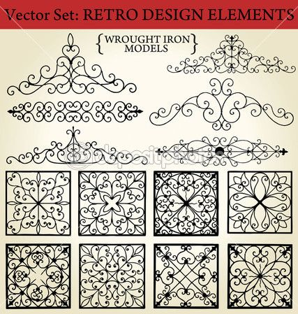 Wrought iron - Retro Design Elements — Stock Illustration #6042547
