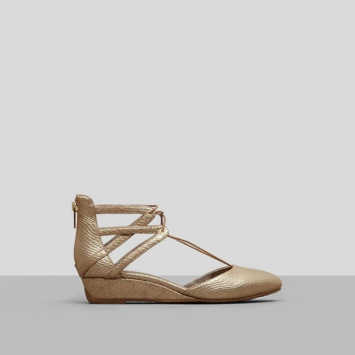 Kenneth Cole New York Why Not Metallic Wedge