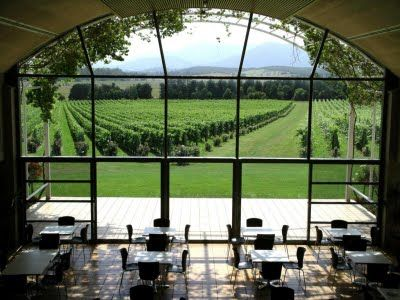 Australia: Domaine Chandon, Yarra Valley. Great for a meeting, a place to chill out and just enjoy the view and great sparkling wine