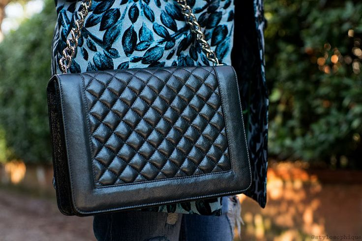 Baracco matellassé bag with chain (more on www.stylosophique.com) metallic, quilted
