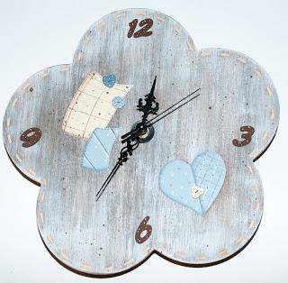 I Ninnoli di Roby e Anto: orologio country & shabby-chich