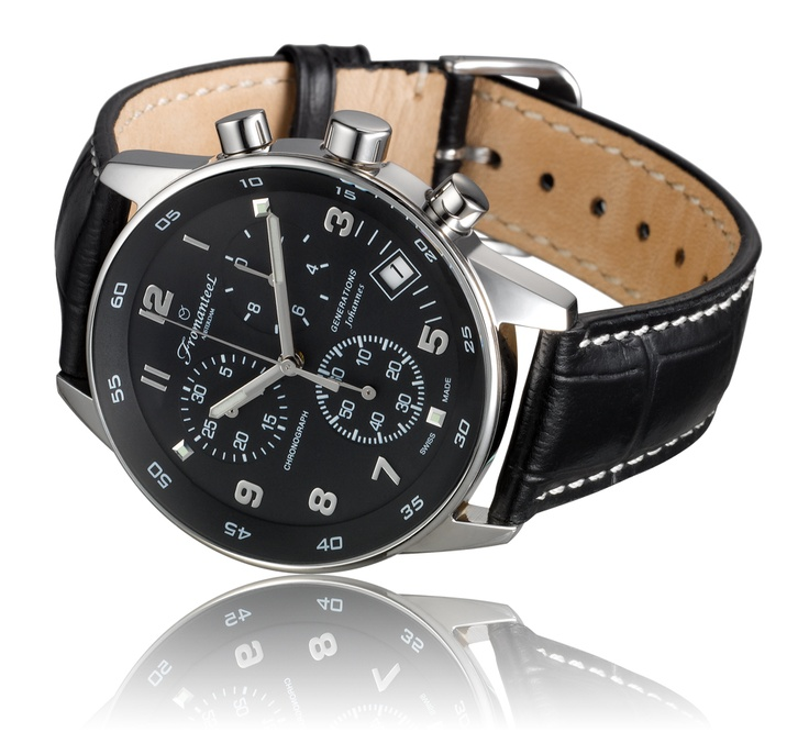 Johannes Black, leather strap