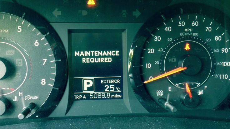 How To Reset Toyota Sienna Maintenance Required Light