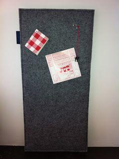 Made by Sløbs: Prikbord van vilt (MASterpiece)