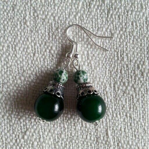 #earrings #handmade #green