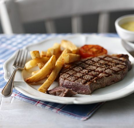 You know your boat's come in when you've got a thick, juicy and perfectly grilled steak like this to look forward to
