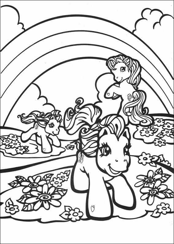 Vintage My Little Pony Coloring Pages : Best images about para colorir on pinterest disney