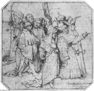 Hieronymus Bosch - Group of Male Figures