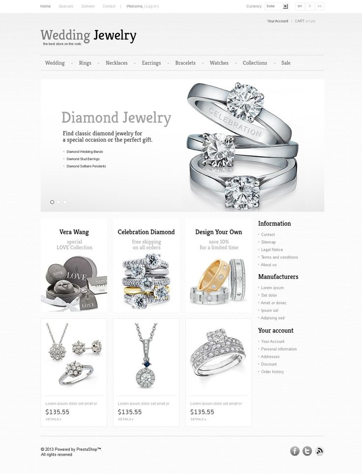 17+ Best Jewelry Store PrestaShop Themes - Wedding Jewelry