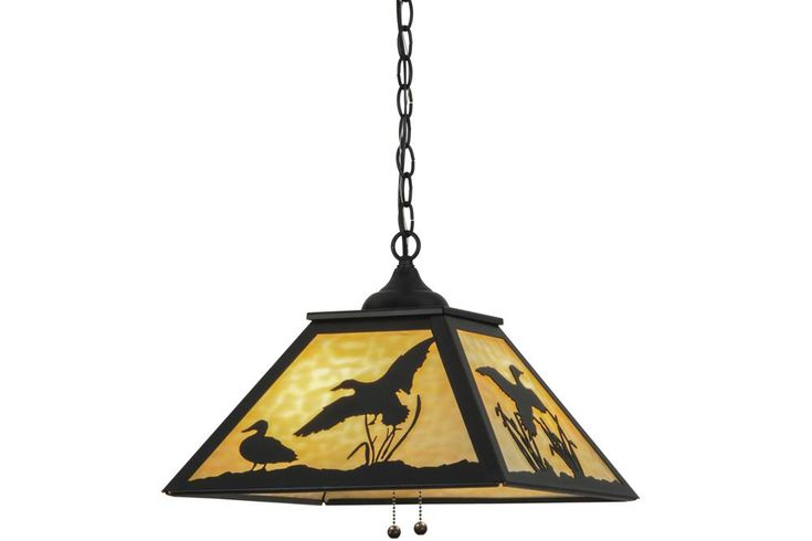 "Meyda 153287 - 16""Sq Ducks in Flight Pendant Light"