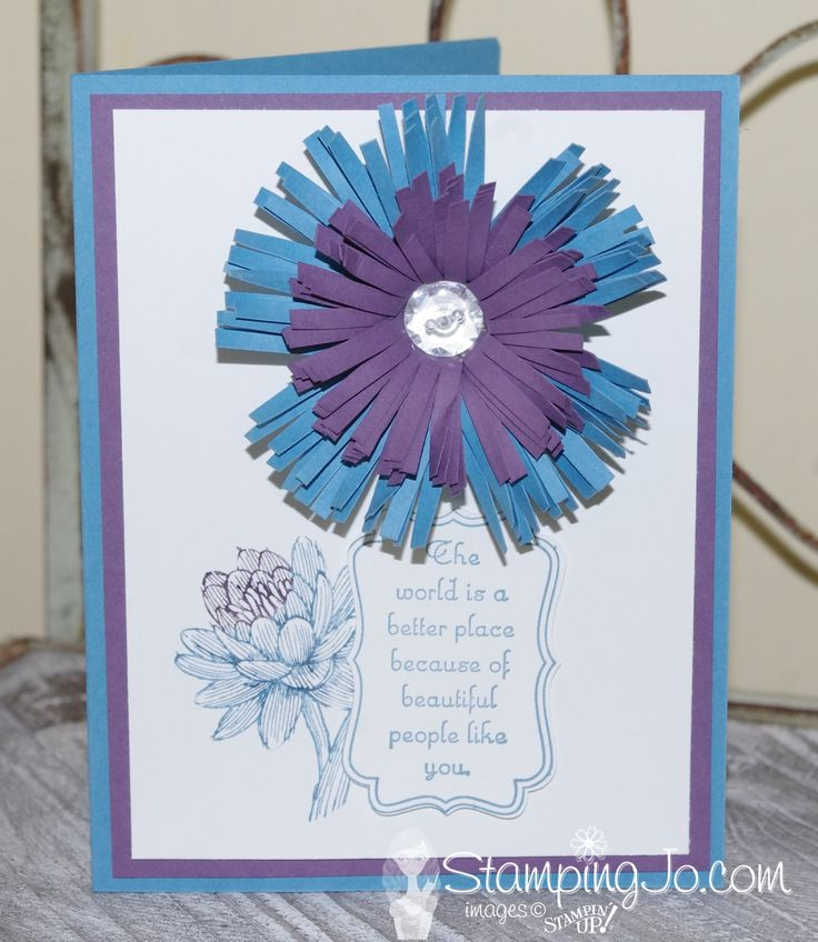 Flower using the Stampin Up Fringe Scissors. VIDEO TUTORIAL #stampinup  #cardideas