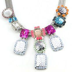 Glitter Sequins Choker Collar Necklace