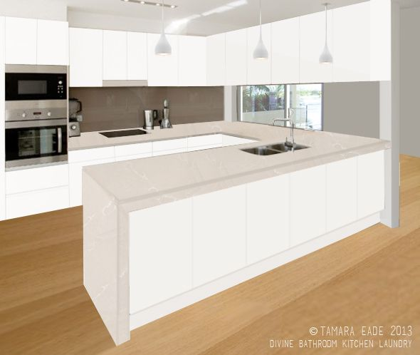 White Kitchen Black Benchtop: Ashgrove Kitchen Concept By Our Interior