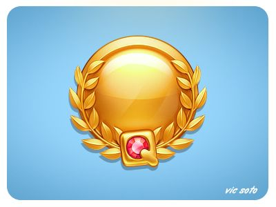 Dribbble - Gold Medal by Victor Soto