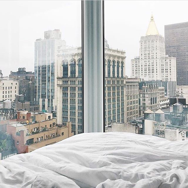 Dreaming of this view at Arlo NoMad NYC  PC @hunterjacksonn    For more hotels inspo follow @CollectedHarmony on Instagram!