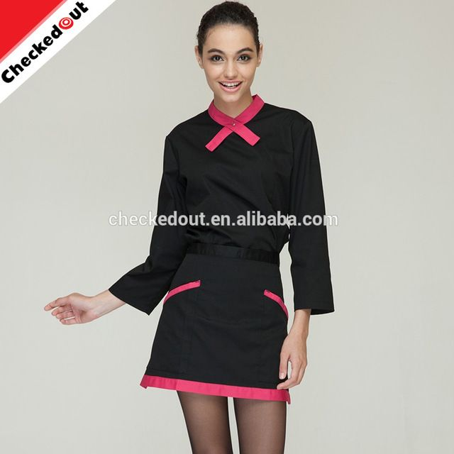 Source Hot sale long sleeve slim black bar hotel restaurant Waitress workwear uniform on m.alibaba.com