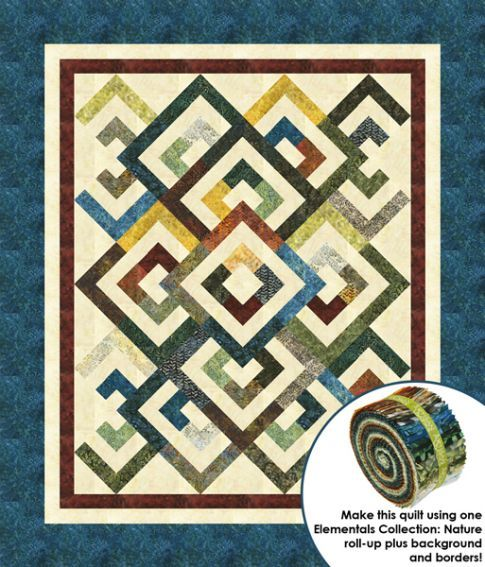 Diamond Double quilt using jelly roll