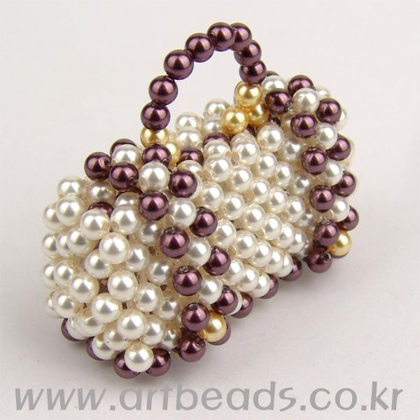 -Tiny Beaded Purse...So Cute!