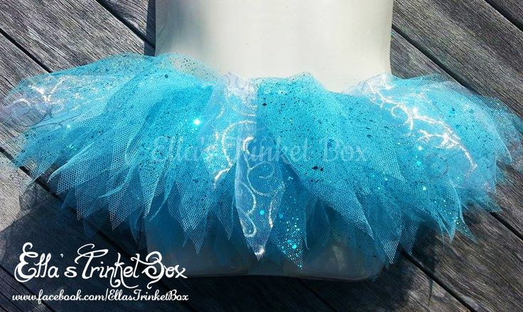 Frozen inspired Tutu!  ♡  Find it at https://www.facebook.com/EllasTrinketBox