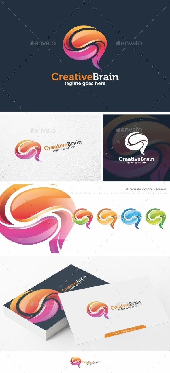 Creative Brain -   Logo Design Template Vector #logotype Download it here: http://graphicriver.net/item/creative-brain-logo-template/14553586?s_rank=178?ref=nexion