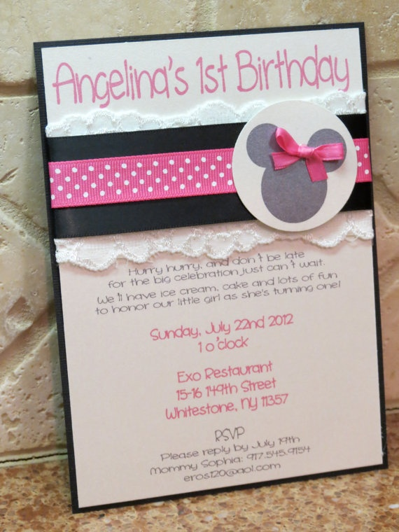 Laced with Grace Mini Mouse Birthday by peachykeenevents on Etsy, $3.55