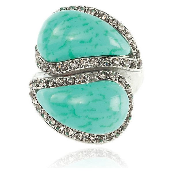 SAMANTHA WILLS RUNNING HEARTS RING TURQUOISE | SAMANTHA WILLS | JEWELLERY | ENHANCE U (2.295 RUB) found on Polyvore