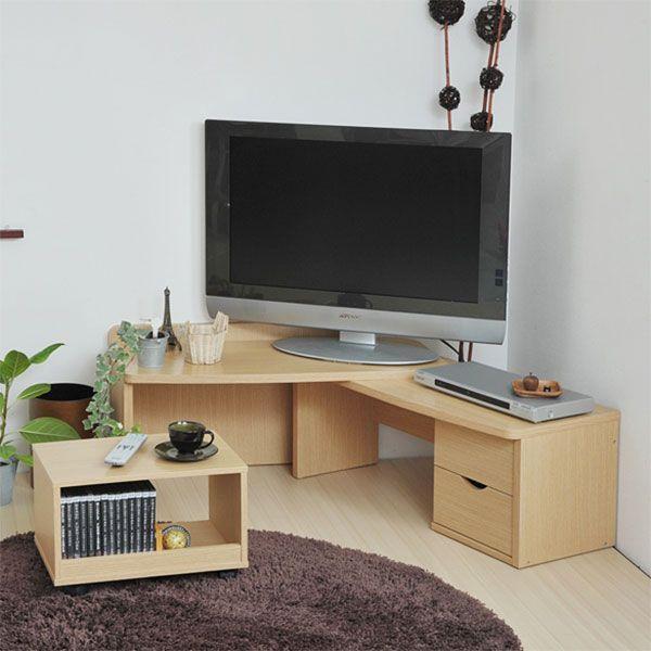 テレビ台としてもデスクとしても使用可能な新感覚の伸張式の家具。(テレビダイ&デスク)