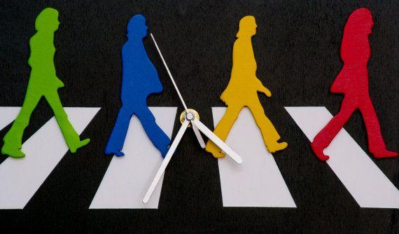 Orologio da muro Abbey road The Beatles di FantasieArtigianali