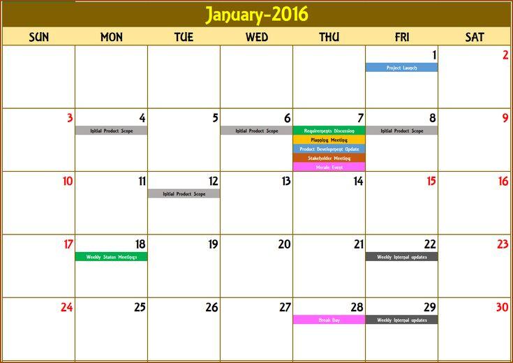 7 Best Event Calendar Excel Template V3 Images On Pinterest
