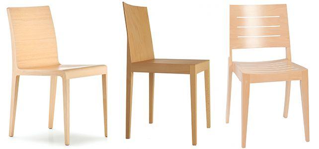 Sillas y sillones de bar en madera