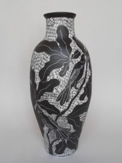 Linocut style pots