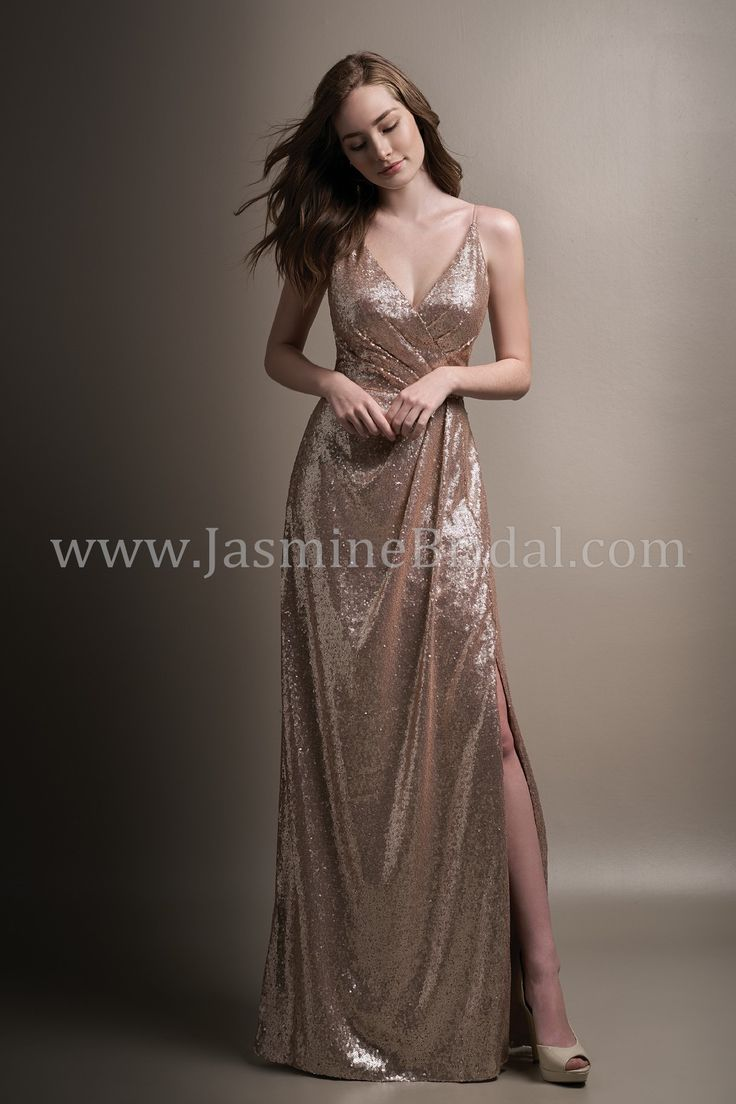 59 best amelishan bridal bridesmaid dresses images on pinterest jasmine bridal belsoie style in sequin color light gold ombrellifo Images