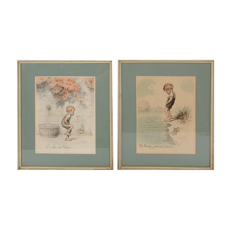 Pair of George Redon French Lithographs