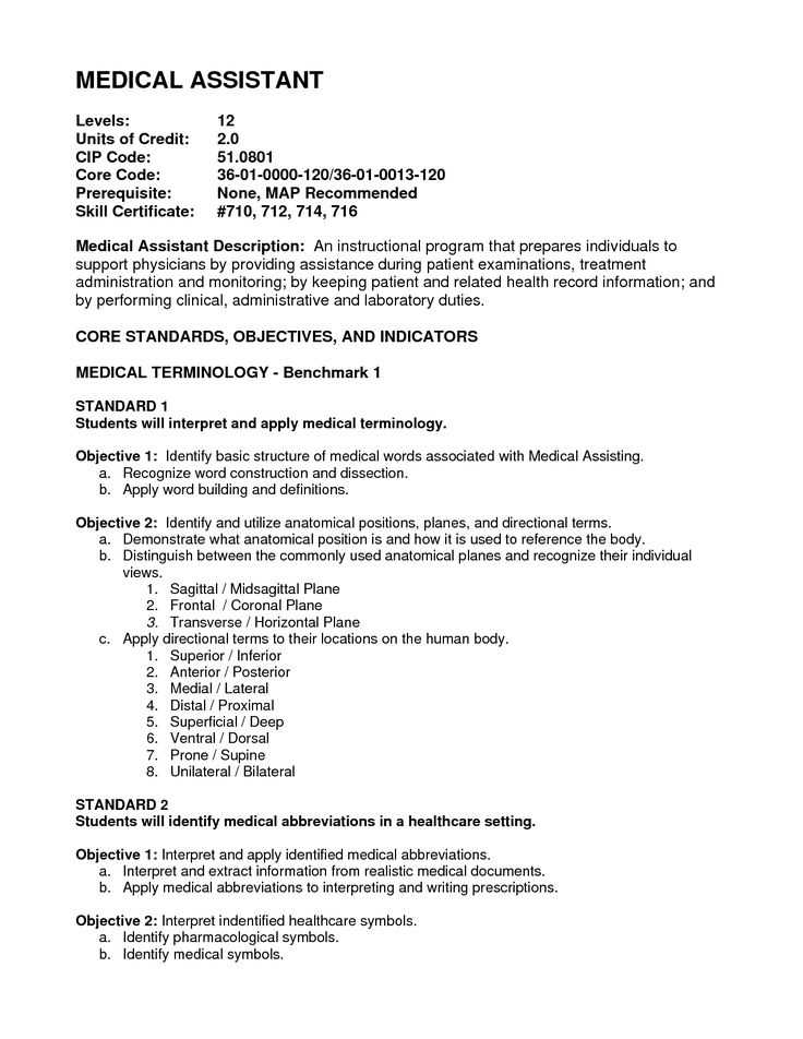 medical assistant objective resume 166 best resume templates and