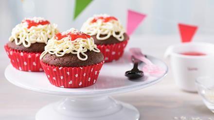 Süße Spaghetti-Muffins Rezept | Sanella