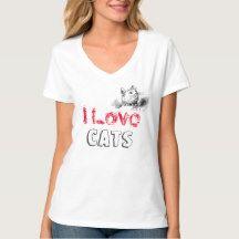 """""""Cat's Women's Hanes Nano V-Neck T-Shirt"""