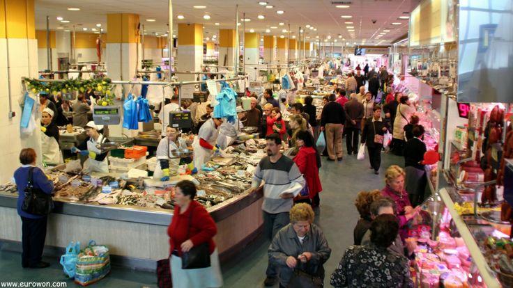 Vista general del mercado del Calvario de Vigo.
