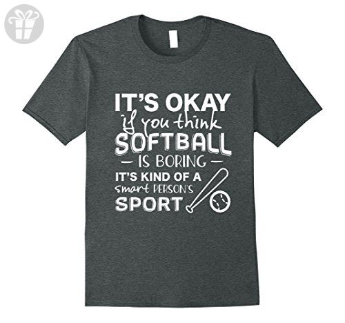 Mens Softball is for Smart People - Funny Softball Shirt 3XL Dark Heather - Funny shirts (*Amazon Partner-Link)