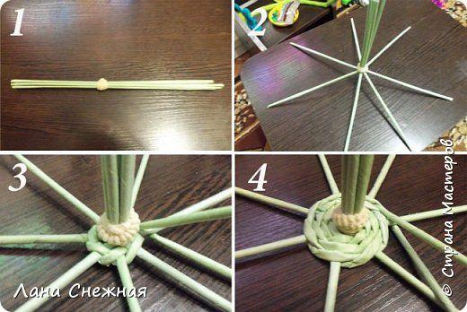 Мастер-класс Поделка изделие Новый год Плетение Сказочный лес Бумага газетная Трубочки бумажные фото 10