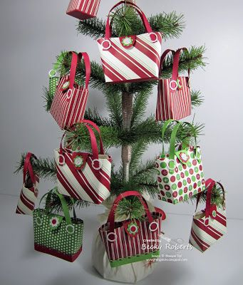 Stampin' Up! Christmas  by Becky Roberts at Inking Idaho: Purse Ornament Tree