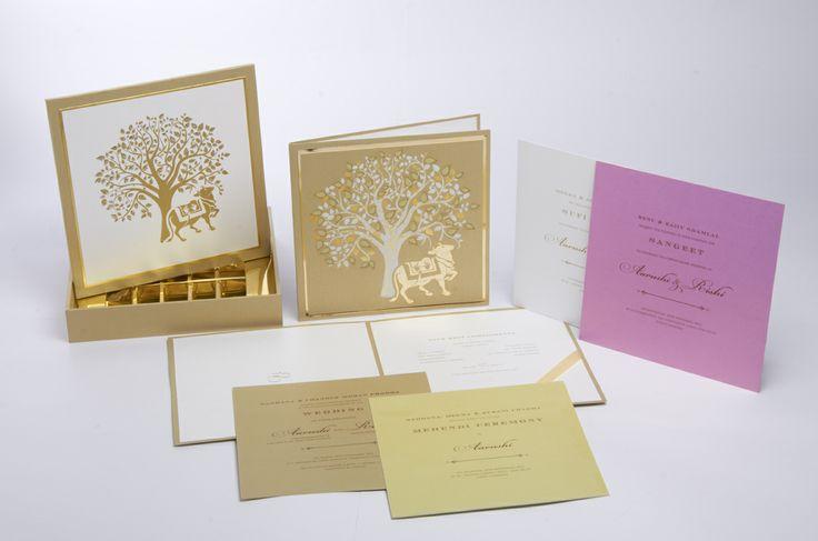 Wedding Invites - Turmeric Ink Invitations & Stationery Delhi | WedMeGood #wedmegood #weddinginvites #invites