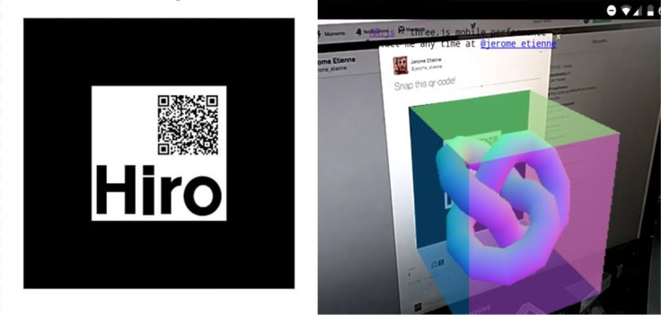From qrcode to AR.js content