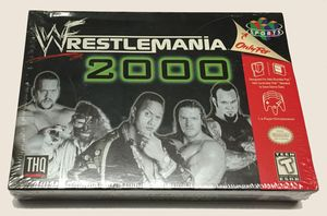 New WWF Wrestlemania 2000 - N64 Factory Sealed Game