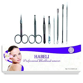 HABELI-Professional Blackhead & Splinter Remover Tools Stainless Steel With 8PCS – Easily… Review