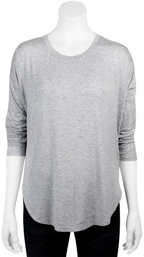 Juniors' Grayson Threads Drop-Shoulder Shirttail Tee