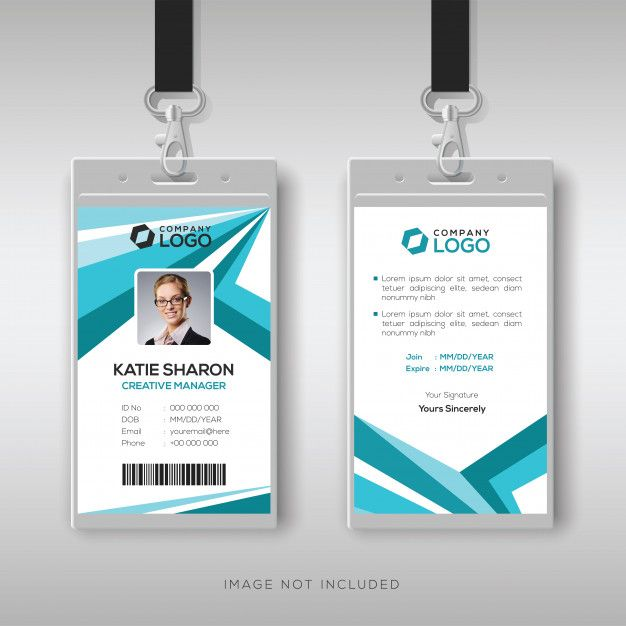 Abstract Corporate Id Card Design Template Id Card Template Corporate Id Business Card Design Creative